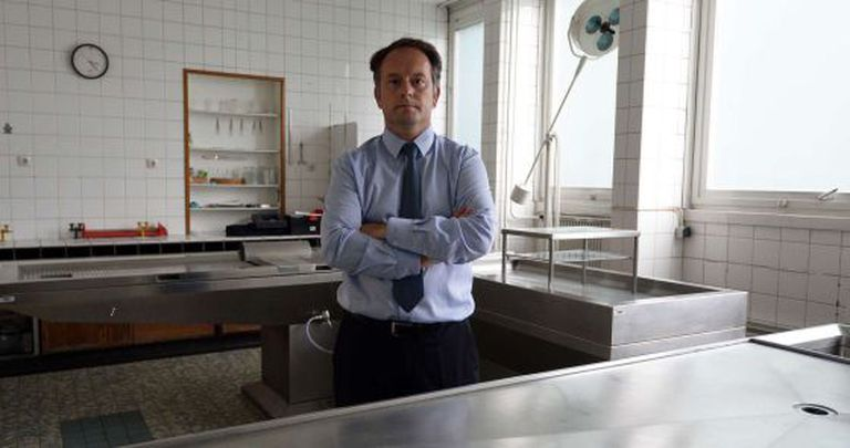 Jean-Sebastien Raul, diretor do instituto forense de Estrasburgo.