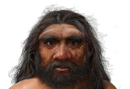 """Reconstituição da aparência do 'Homo longi', ou """"homem dragão""""."""