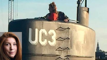 Kim Wall e Madsen no submarino