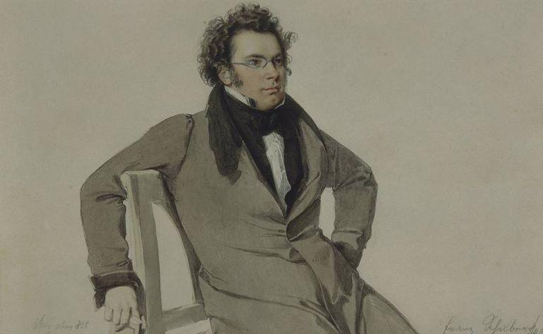 Retrato sem data de Schubert.