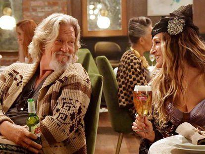 Jeff Bridges e Sarah Jessica Parker, em um dos anúncios do Super Bowl 2019