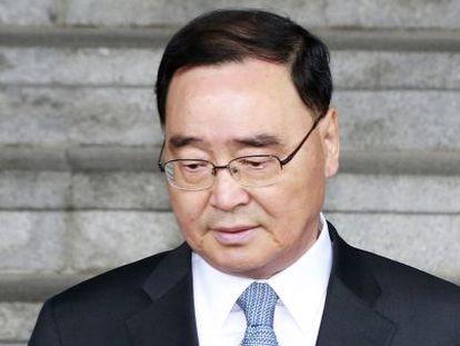 O primeiro-ministro da Coreia do Sul.