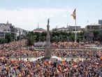 DVD 1057  (13/06/21)Manifestación en Colón en contra de los indultos, esta mañana. David Expósito