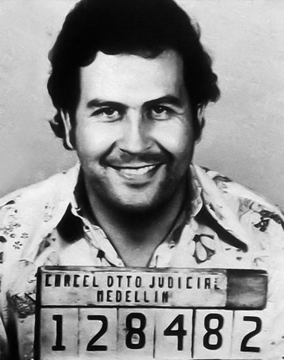 Registro policial de Pablo Escobar