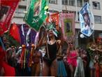 Desfile do Cordão do Boitatá no Rio.