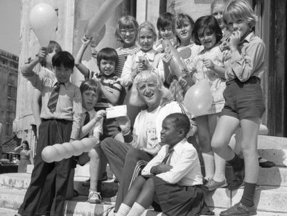 Jimmy Savile em um ato beneficente em 1973.