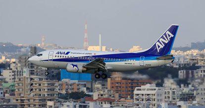 Um avião da companhia ANA.