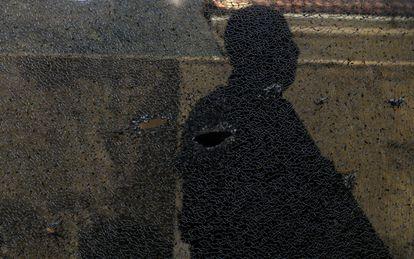 Marca de tiro no morro de São Carlos, no Rio de Janeiro, durante operação contra traficantes na semana passada.