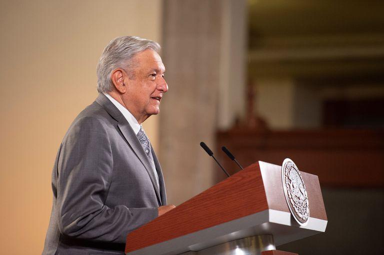 O presidente Andrés Manuel López Obrador em uma de suas entrevistas coletivas matutinas neste ano.