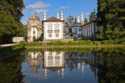 Jardins do palácio de Mateus, às periferias da cidade de Vila Real (Portugal).