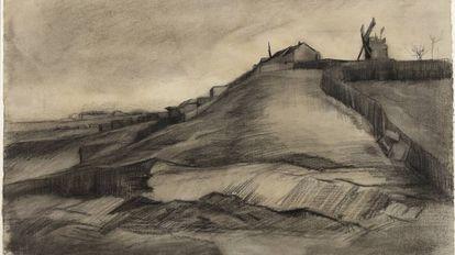 'A Colina de Montmartre com uma Pedreira', de Van Gogh, datado de 1886.