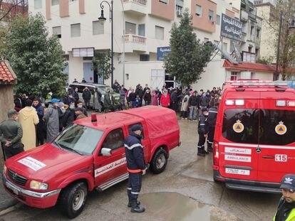 Imagem do entorno da fábrica têxtil ilegal na qual 26 pessoas foram eletrocutadas nesta segunda-feira.