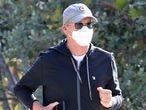 El actor Michael Keaton corriendo por Los Ángeles.