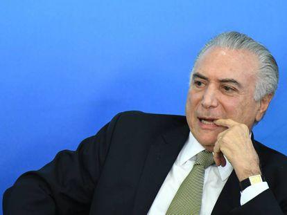 Michel Temer durante evento nesta segunda, em Brasília.