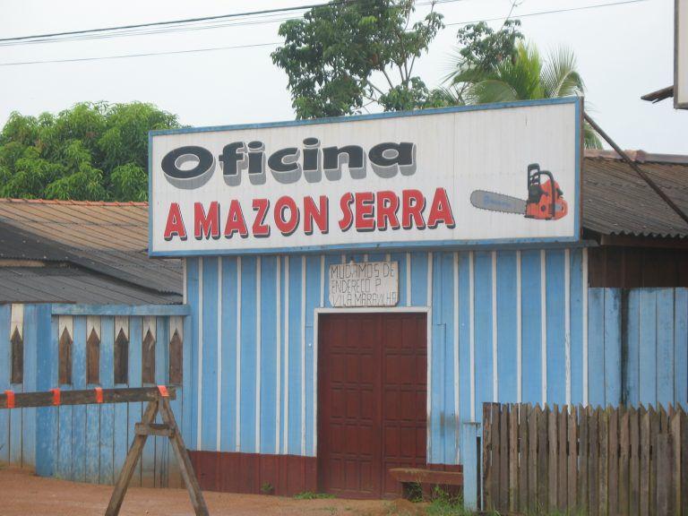 Imagem de arquivo de uma oficina em Santo Antônio do Matupi, em Manicoré (AM), numa área que deveria ser assentamento.
