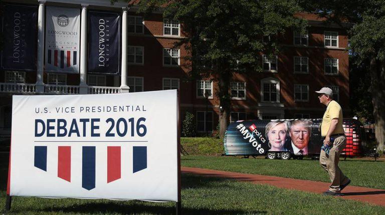 A Universidade Longwood, no estado da Virgínia, vai sediar o debate entre os candidatos à vice-presidência dos EUA.