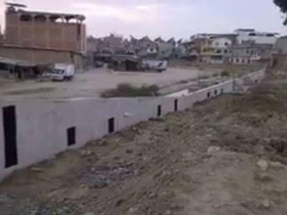 O muro que separa os países