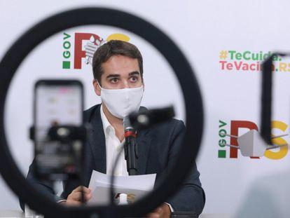O governador do Rio Grande do Sul, Eduardo Leite, em evento em março.