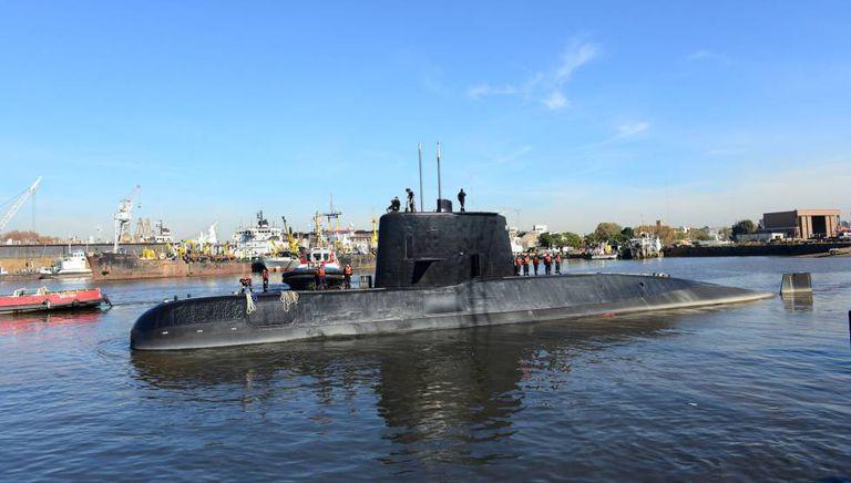 O submarino argentino desaparecido, em fotografia tirada em 2014.