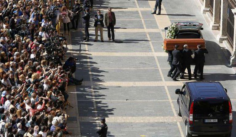 Funeral de Isabel Carrasco .