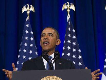Barack Obama durante a coletiva de imprensa sobre a NSA.