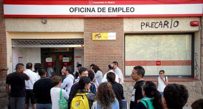 Escritório de emprego em Collado Villalba, Madri.