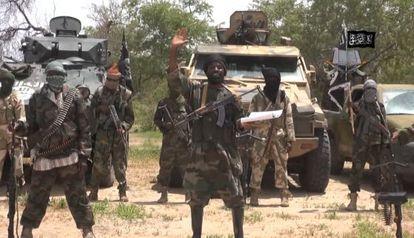 Captura de vídeo da seita radical islâmica Boko Haram gravado em julho.