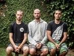 De esquerda a direita, Daniel Govino, Marcelo Aron Cwerner e João Romano, da Brigada de Alter do Chão.