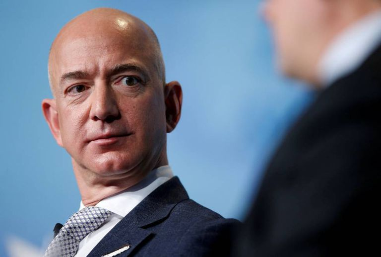 O chefe de Amazon, Jeff Bezos.