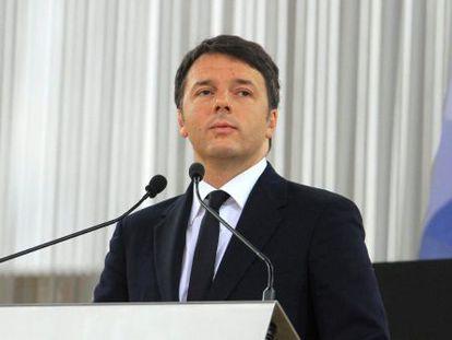 O primeiro-ministro italiano, Matteo Renzi, na inauguração da Expo de Milão, na sexta-feira.