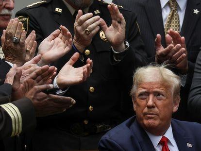 O presidente Trump na semana passada na Casa Branca.