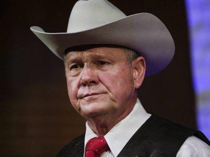 O candidato republicano ao Senado pelo Alabama, Roy Moore