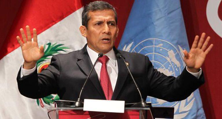 O presidente do Peru, Ollanta Humala.