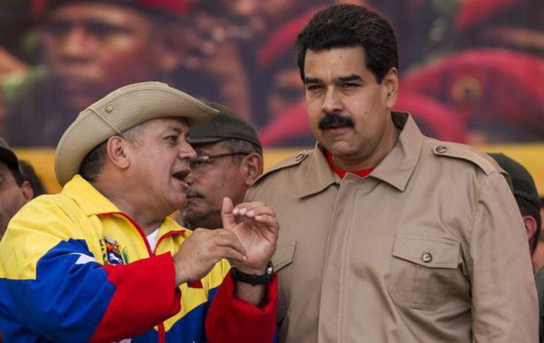 Cabello e Maduro, no sábado passado em Caracas.