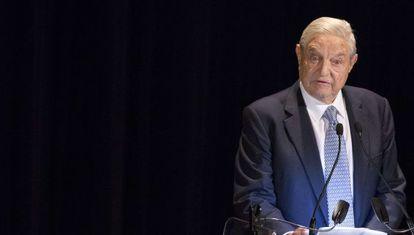 George Soros, em um evento de caridade em Nova York em novembro.