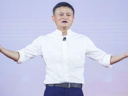 Jack Ma, fundador do site de vendas Alibaba, em Hangzhou, China, em 2019.