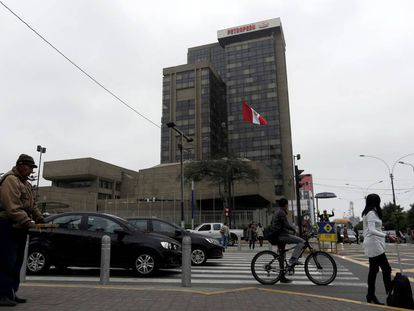 Sede da Petroperú em Lima (Peru), em julho de 2016.
