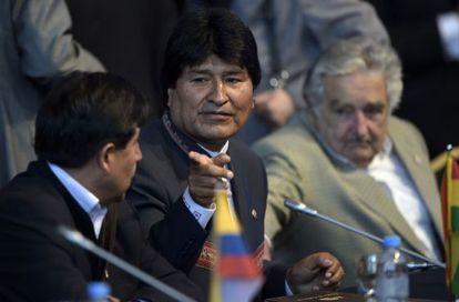 Evo Morales e José Mujica, em encontro no último dia 17.