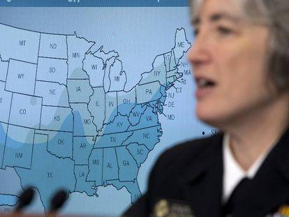 Anne Schuchat, diretora-adjunta do CDC, nesta segunda-feira na Casa Branca.