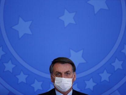 Bolsonaro no dia 17 de junho, no Palácio do Planalto.