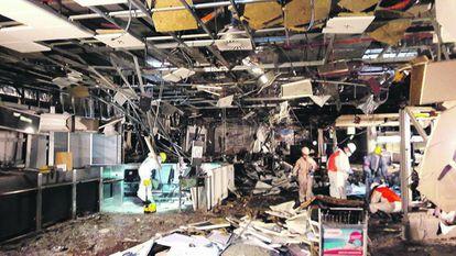 O aeroporto de Zaventem, em 23 de março, um dia depois dos ataques.