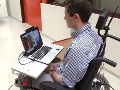 Pesquisadores brasileiros criam uma cadeira controlada por pequenos movimentos do rosto ou da cabeça