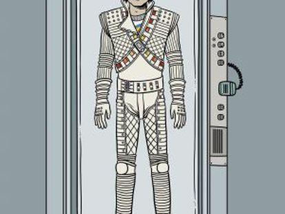 Michael Jackson, em uma ilustração de David Sánchez.