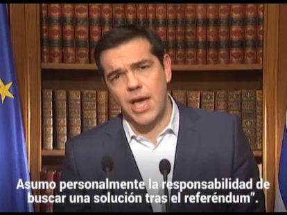 Tsipras mantém o referendo e pede votação maciça no não