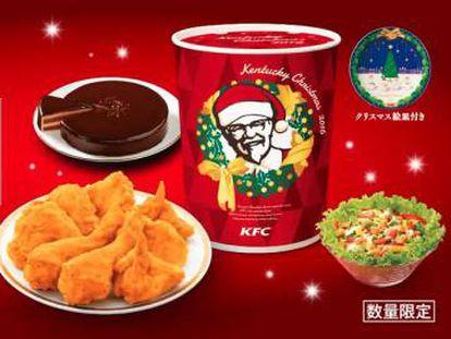 Menu de Natal do KFC.