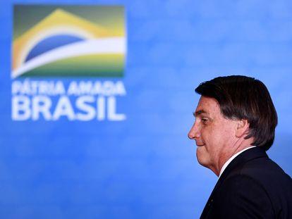 O presidente Jair Bolsonaro durante evento em Brasília no início de novembro.