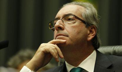 Cunha, que fez inusual sessão sexta na Câmara para acelerar impeachment.