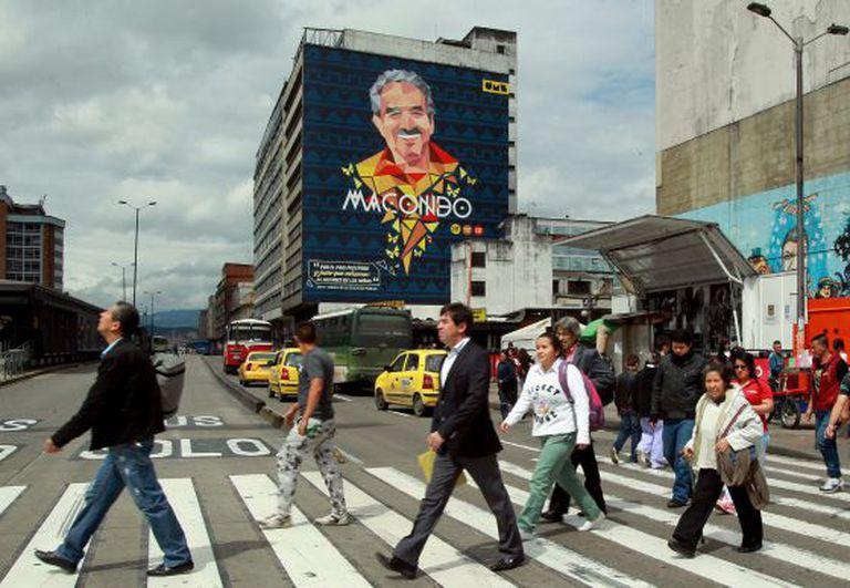 Mural do Instituto de Artes de Bogotá, em homenagem a Gabo.
