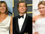 Los actores Jennifer Aniston, Brad Pitt y Renee Zellweger