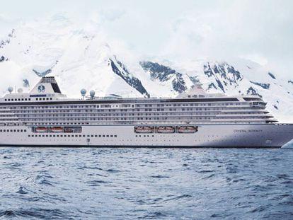 O Crystal Serenity, em outro cruzeiro no Antártico